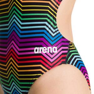 W Multicolor Stripes Challenge Back One Piece Kadın Çok Renkli Yüzücü Mayosu 002828550