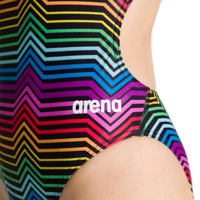 W Multicolor Stripes Challenge Back One Piece Kadın Çok Renkli Yüzücü Mayosu 002828550 1146674