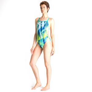 W Shading Prism Booster Back One Piece Kadın Çok Renkli Yüzücü Mayosu 002867870