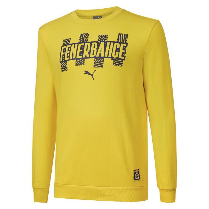 Fenerbahçe SK 21/22 Sezonu Erkek Sarı Futbol Sweatshirt 76702301 1297503
