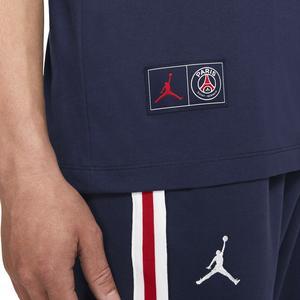 M J Psg Wordmark Tee Erkek Mavi Basketbol Tişört DB6510-410