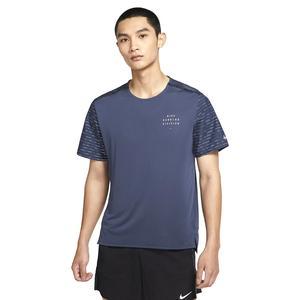 M Nk Df Run Dvn Nv Rise 365 Ss Erkek Mavi Koşu Tişört DD4851-437