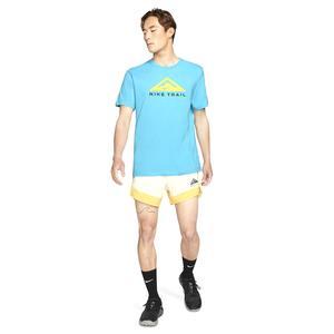 U Nk Df Tee Ss Trail Erkek Mavi Koşu Tişört CZ9802-447