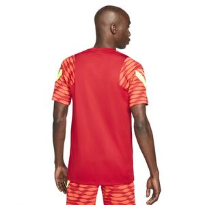 M Nk Df Strke21 Top Ss Erkek Kırmızı Futbol Tişört CW5843-687