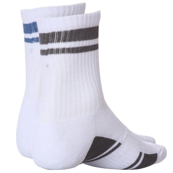 Sportive Tenis Corap Çizgili 2Li Unisex Beyaz Günlük Stil 2'li Çorap 2021013-BÇ 1289047