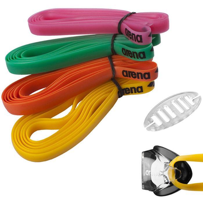 Racing Goggles Silicone Strap Kit Unisex Çok Renkli Yüzücü Gözlük Kayışı 9527410 463684