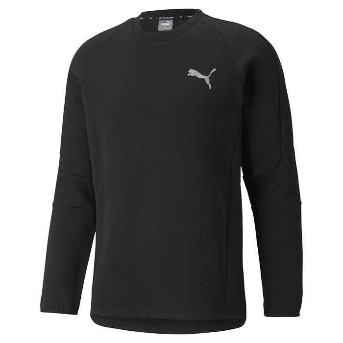Evostripe Crew Erkek Siyah Günlük Stil Sweatshirt 58941801 1247772