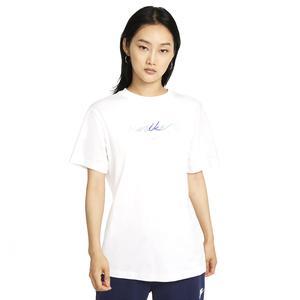 W Nsw Bf Tee Craft Kadın Beyaz Günlük Stil Tişört DJ1834-100