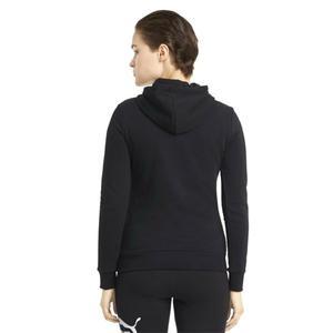 Ess Logo Hoodie Tr Kadın Siyah Günlük Stil Sweatshirt 58679101