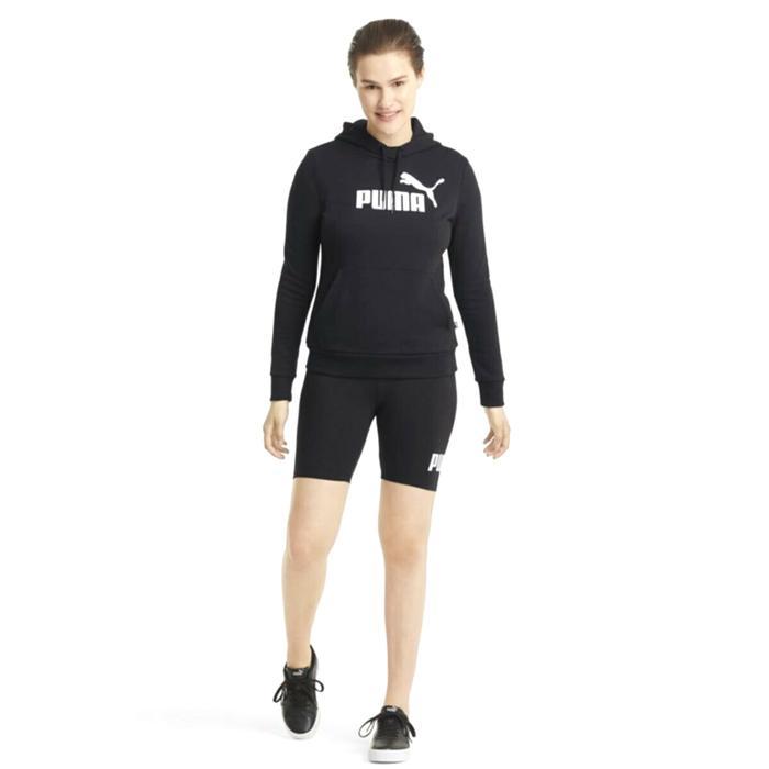 Ess Logo Hoodie Tr Kadın Siyah Günlük Stil Sweatshirt 58679101 1246879
