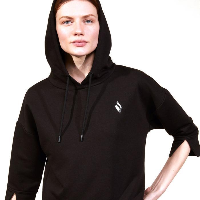 Lw Fleece W Hoodie Kadın Siyah Günlük Stil Sweatshirt S211277-001 1278698