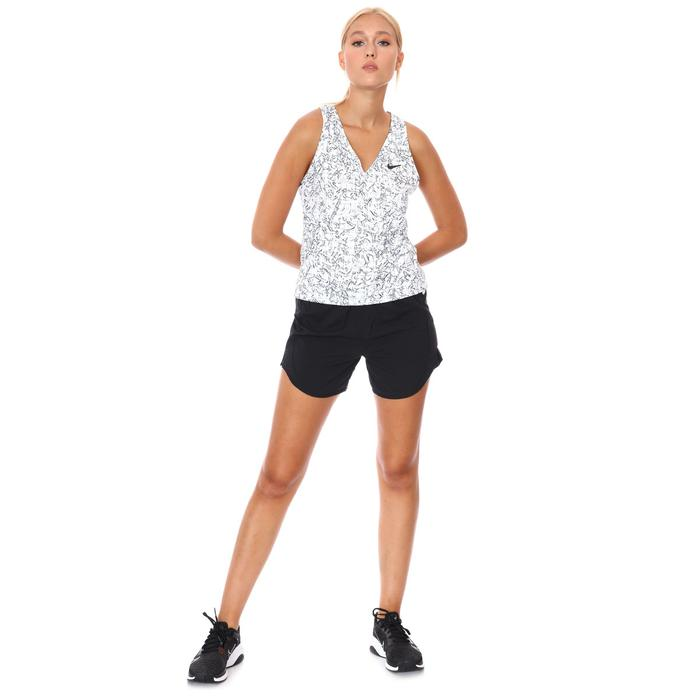 W Nkct Victory Tank Print Kadın Beyaz Tenis Atlet CV4851-100 1283168
