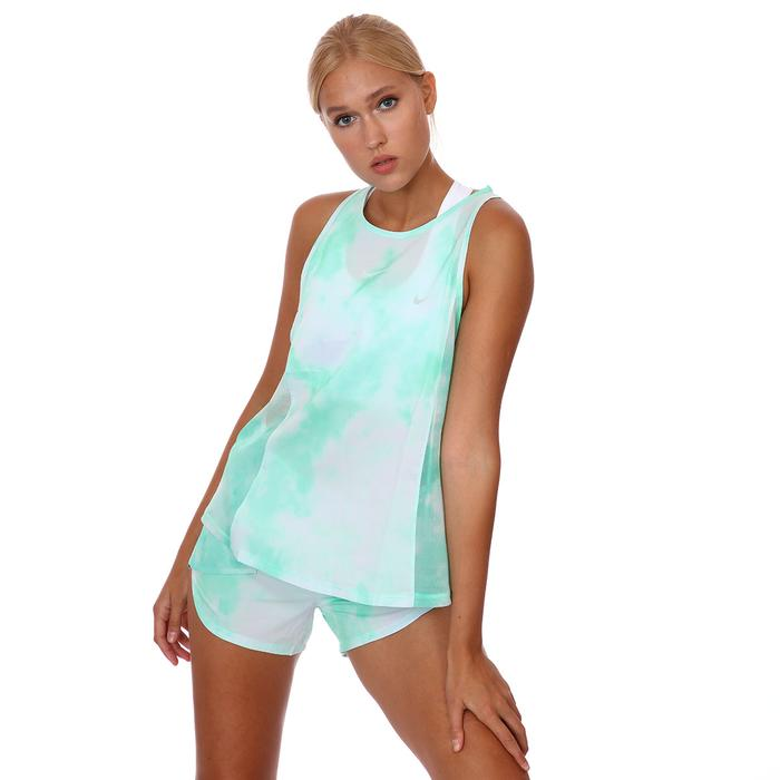 W Nk Icon Clash City Sleek Tnk Kadın Yeşil Koşu Atlet CZ9616-342 1283298