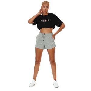 W Nsw Essntl Flc Hr Short Ft Kadın Siyah Günlük Stil Şort CJ2158-063