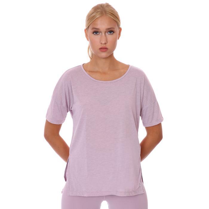 W Ny Df Layer Ss Top Kadın Mor Antrenman Tişört CJ9326-501 1304885