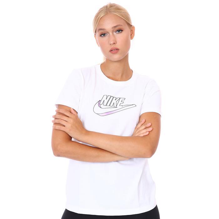 W Nsw Tee Futura Kadın Beyaz Günlük Stil Tişört DJ1820-100 1308733