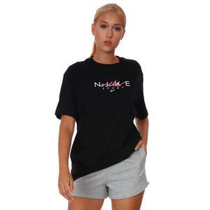 W Nsw Bf Tee Craft Kadın Siyah Günlük Stil Tişört DJ1834-010
