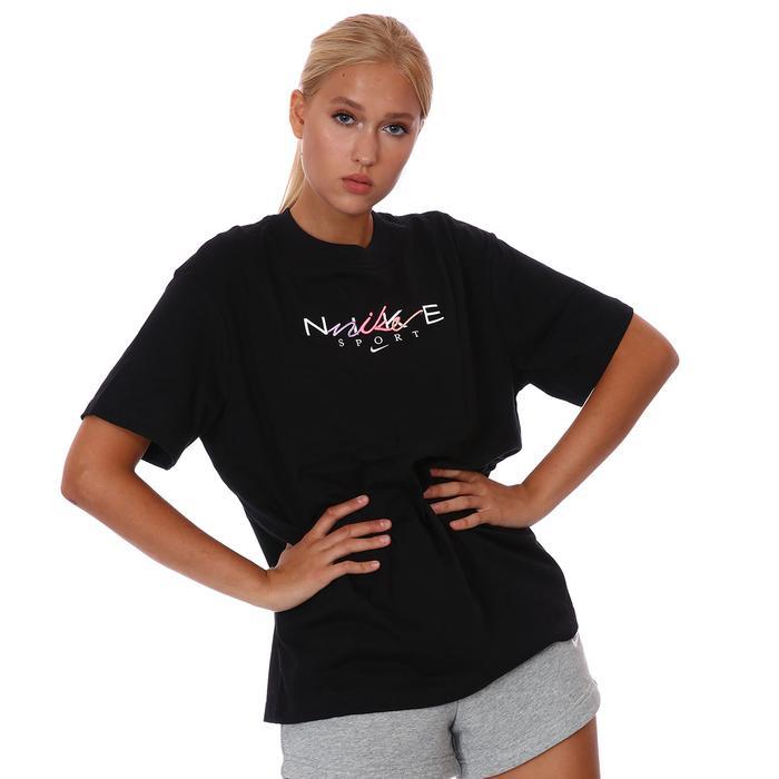 W Nsw Bf Tee Craft Kadın Siyah Günlük Stil Tişört DJ1834-010 1308740