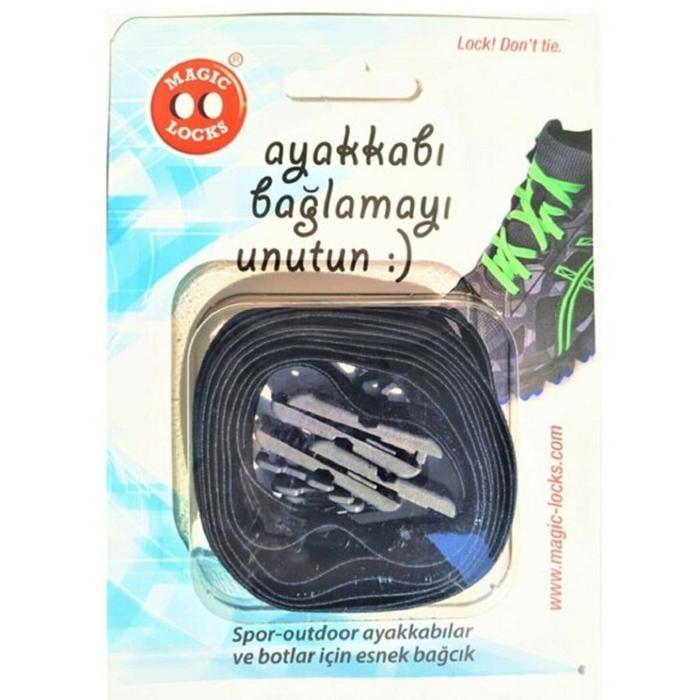 ML Unisex Siyah Ayakkabı Bağcığı 06B1 1279194