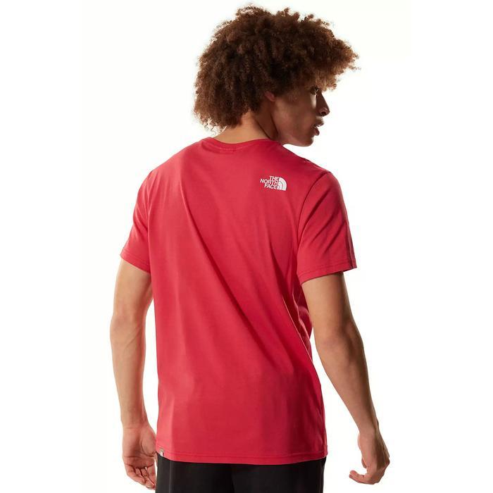 M S/S Simple Dome Tee - Eu Erkek Kırmızı Outdoor Tişört NF0A2TX5V341 1279948