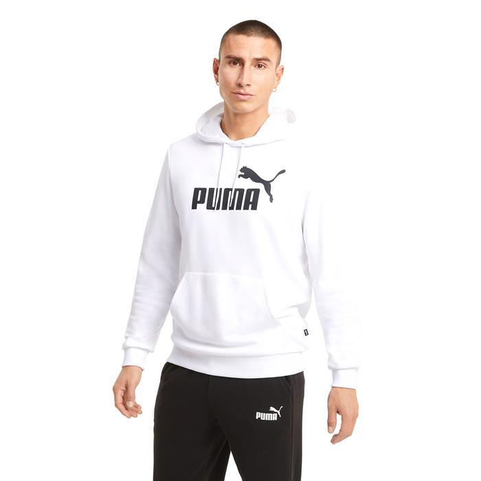 Ess Big Logo Hoodie Tr Puma White Erkek Beyaz Günlük Stil Sweatshirt 58668802 1218052