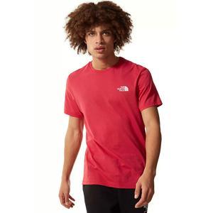 M S/S Simple Dome Tee - Eu Erkek Kırmızı Outdoor Tişört NF0A2TX5V341