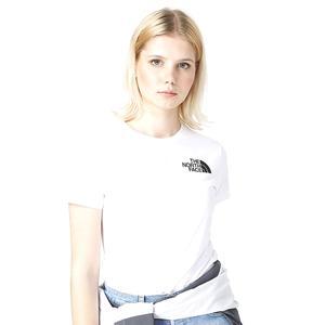 W S/S Hd Tee Kadın Beyaz Outdoor Tişört NF0A4M8QFN41