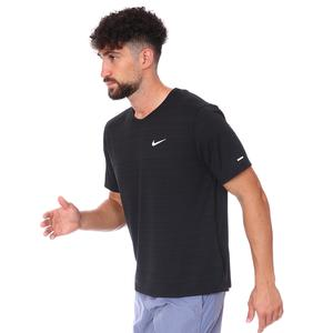 M Nk Df Miler Top Ss Erkek Siyah Koşu Tişört CU5992-010