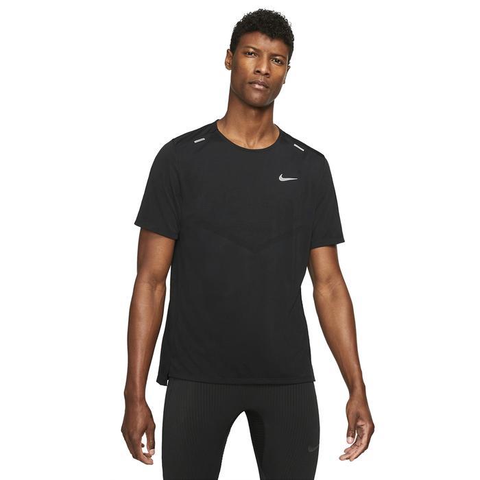 M Nk Df Rise 365 Ss Erkek Siyah Koşu Tişört CZ9184-013 1306364