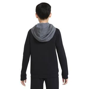 B Nsw Elevated Trims Fz Çocuk Siyah Günlük Stil Sweatshirt DD8704-010