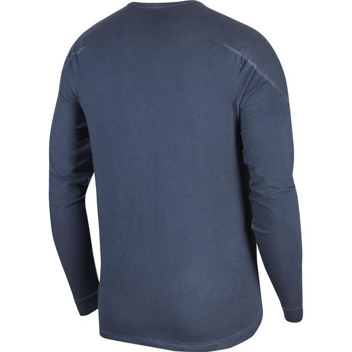 M Ny Ls Dye Erkek Mavi Günlük Stil Uzun Kollu Tişört CZ9695-437 1306422