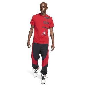 Jordan Air NBA Stretch Ss Crew Erkek Kırmızı Basketbol Tişört CZ8402-687