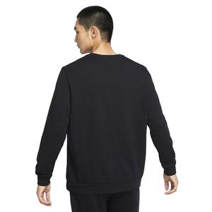 M Nk Df Ls Crw Erkek Siyah Antrenman Uzun Kollu Tişört CZ7395-010