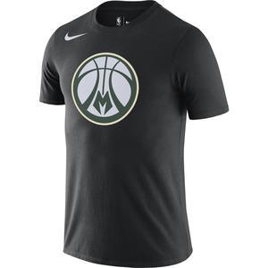 Milwaukee Bucks NBA Erkek Siyah Basketbol Tişört DA6029-010
