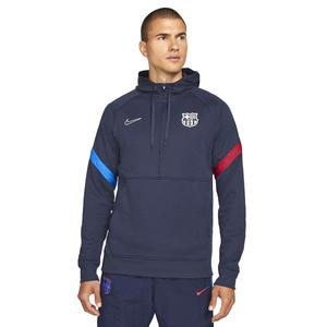 Fcb M Nk Travel Flc Hoodie Hz Erkek Mavi Futbol Sweatshirt CV9940-451