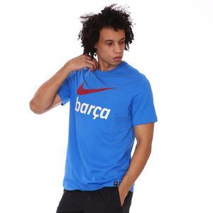 Fcb M Nk Swoosh Club Tee Erkek Mavi Futbol Tişört DB4811-403