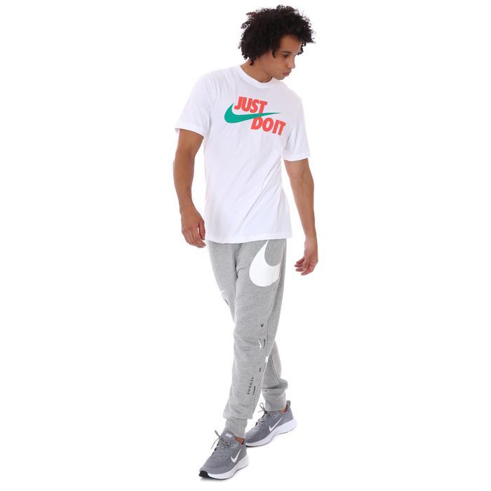 M Nsw Tee Just Do it Swoosh Erkek Beyaz Günlük Stil Tişört AR5006-107 1304227