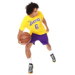 Los Angeles Lakers NBA Es Nn Erkek Sarı Basketbol Tişört CV8528-745