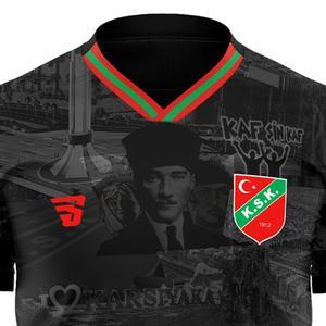 Karşıyaka Atatürk Çocuk Siyah Futbol Tişört TKY100161-SYH