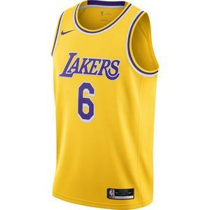 Los Angeles Lakers NBA Swgmn Jsy Icon 20 Erkek Sarı Basketbol Atleti CW3669-738