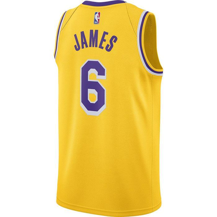 Los Angeles Lakers NBA Swgmn Jsy Icon 20 Erkek Sarı Basketbol Atleti CW3669-738 1305728
