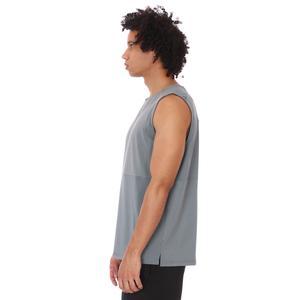 Zip Pocket Erkek Mavi Koşu Tişört 21KETP17C02-MAV