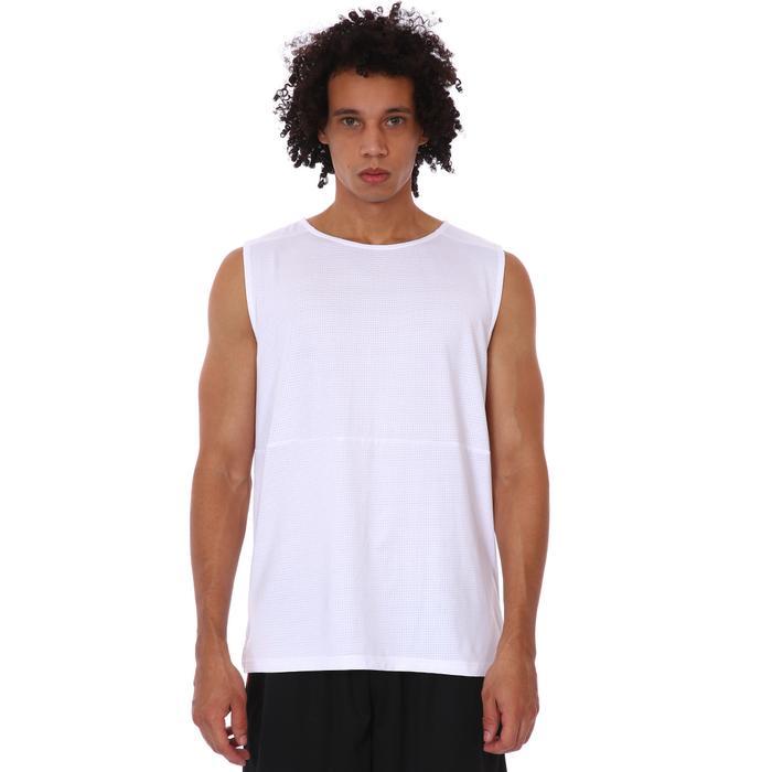 Zip Pocket Erkek Beyaz Koşu Tişört 21KETP17C02-BYZ 1315959