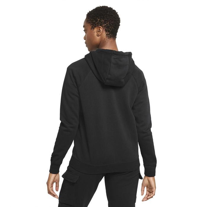 W Nsw Essntl Fz Hoodie Prnt Kadın Siyah Günlük Stil Sweatshirt DJ4120-010 1308808