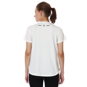 Mesh Back Kadın Beyaz Koşu Tişört 21KKTP18D01-BYZ
