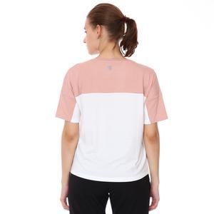 Renk Bloklu Kadın Beyaz Günlük Stil Tişört 21KKTL18D01-BYZ