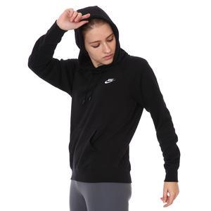 Essntl Hoodie Po Flc Kadın Siyah Günlük Stil Sweatshirt BV4124-010