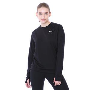 W Nk Df Pacer Crew Kadın Siyah Koşu Uzun Kollu Tişört CU3270-010